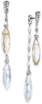 cute -- c.A.K.e. by Ali Khan Silver-Tone Imitation Pearl and Faceted Bead Long Front-Back Earrings  -- http://www.hagglekat.com/c-a-k-e-by-ali-khan-silver-tone-imitation-pearl-and-faceted-bead-long-front-back-earrings/