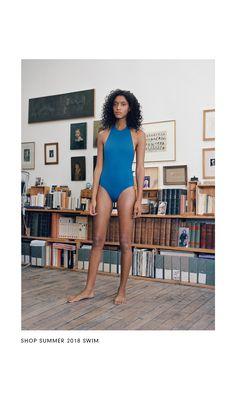 Her Line by Alina Asmus Swimsuits, Bikinis, Swimwear, Stuck, Line Design, Women Wear, Spring Summer, Neckline, One Piece