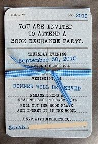 Book exchange party adele1210