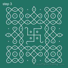 9x9 Dot Rangoli Step 3 More