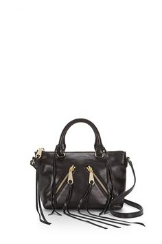 Distressed Micro Moto Satchel