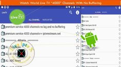 Watch World Live TV Over 4000 Channels No Buffering On Android With Live TV (IptvRestream.net) Apk https://youtu.be/bTMoca6mIYE