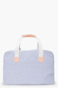 a.p.c. striped weekend bag