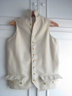 Handmade 18th Century Military Royal Navy Captain Uniform - Waistcoat