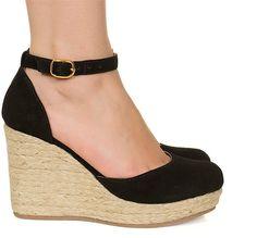 Sandália espadrille anabela preta salto corda Taquilla - Taquilla - Loja online de sapatos femininos