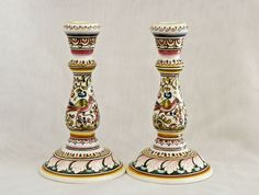 Candlesticks from Coimbra, Portugal | Hand-painted ceramic pottery | eBay