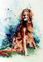 Dog Watercolor Art - Patton by Hanne Lore Koehler