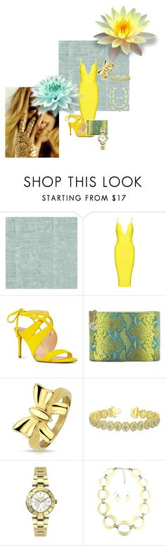 """""""Untitled #328"""" by melissa-mcvey-courtemanche ❤ liked on Polyvore featuring Osborne & Little, Nine West, Cashhimi, West Coast Jewelry, Allurez and Versus"""