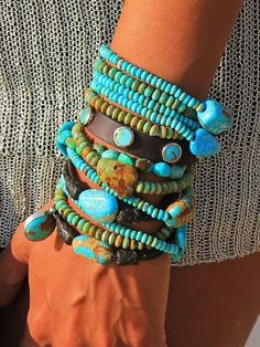 Charm Stack Brit West: Turquoise Bracelet StackTurquoise (disambiguation) Turquoise is a gemstone. Turquoise may also refer to: Bohemian Jewelry, Beaded Jewelry, Beaded Bracelets, Stack Bracelets, Leather Bracelets, Diamond Bracelets, Pandora Bracelets, Pandora Jewelry, Indian Jewelry