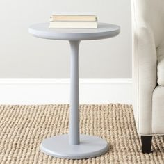 Safavieh Luke Pearl Blue Grey Round End Table - 15932329 - Overstock.com Shopping - Great Deals on Safavieh Coffee, Sofa & End Tables