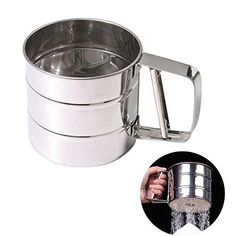 Features : New stainless steel flour sifter sieve filter baking icing sugar powder strainer The parent-child time, DIY together with the children, Found your children creativity and practical ability in DIY. The children also like to become a mother's good helper. You can bring camera by... - http://kitchen-dining.bestselleroutlet.net/product-review-for-chengor-baking-stainless-steel-shaker-sieve-cup-mesh-crank-flour-sifter-with-measuring-scale-mark-for-flour-icing-suga