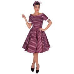 928b63eaf434 Darlene Retro Full Circle Swing Dress in Purple