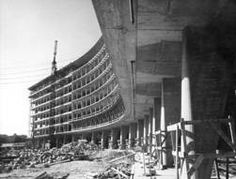 1955-1958 Paris chantier de la construction du Siège de l'UNESCO