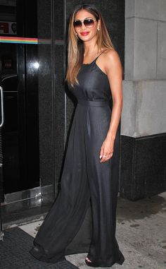 """X Factor"" judge Nicole Scherzinger couldn't have looked more chic in a black maxi dress, topped off with oversized aviator sunnies!"