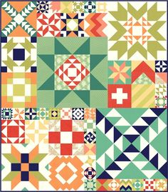 Fig Trees Modern Building Blocks BOM | Fig Tree Quilts