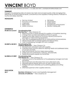 sample resume for housekeeper sample resume for housekeeper we provide as reference to make correct - Sample Housekeeper Cover Letter