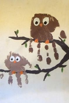 Hand Print Birds for a Calendar