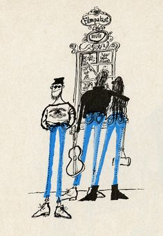Blue Jeans by Ronald Searle