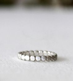 little silver pebble ring.