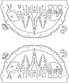 Scroll saw patterns 427279083390888642 Christmas Scenes, Christmas Wood, Christmas Colors, Christmas Projects, Christmas Stencils, Christmas Templates, Kirigami Templates, Paper Cutting Patterns, Scroll Saw Patterns Free