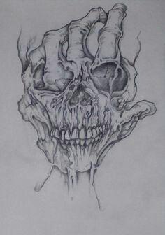 Bilderesultat for rose hand tattoo designs Evil Skull Tattoo, Skull Tattoo Design, Tattoo Design Drawings, Skull Tattoos, Body Art Tattoos, Sleeve Tattoos, Evil Tattoos, Tattoo Designs, Dark Art Drawings