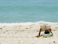 Nothing better than reading a good book while at the beach!