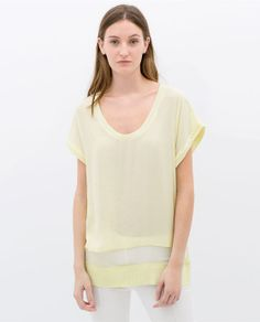 yellow t shirt
