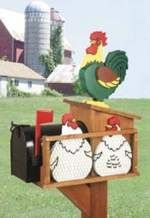 Cute!  Chicken coop mailbox