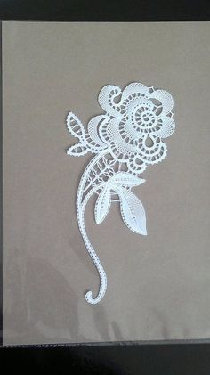 Idrija part lace. I think the leaves in particular, required added threads. So it isn't a pure tape lace. Irish Crochet Patterns, Bobbin Lace Patterns, Crochet Motif, Crochet Lace, Lace Flowers, Crochet Flowers, Romanian Lace, Lacemaking, Lace Heart
