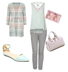 """""""mint at work"""" by nkaviles on Polyvore featuring maurices, Entre Amis, Glamorous, Sergio Bari, Dasein, Humble Chic and MSGM"""