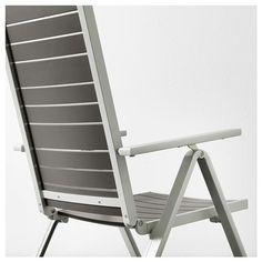 Products IKEA - SJÄLLAND Table + 6 reclining chairs, outdoor dark gray, light Saving Money with Kitc