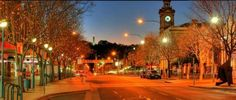 Albury at night, NSW, Australia. Part of the Sydney to Adelaide road trip via Broken Hill and outback NSW. Photo: Hotel on Olive