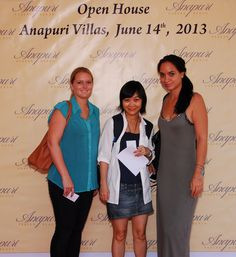 A great time Anapuri Villas Open House with agents gathering