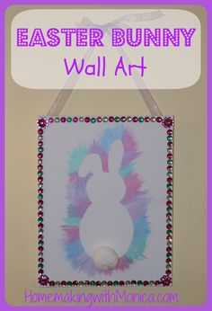 Easter Bunny Wall Art ~ Tutorial and Template