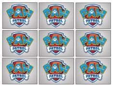 18 Paw Patrol Badge Stickers, Paw Patrol Party, Party Supplies, Decorations, Favors, Gifts, Birthday, Labels on Etsy, $3.50