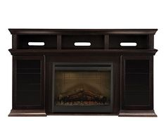 """Bennett 66"""" TV Console w/ 26"""" Fireplace 