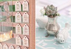 Wood cut escort cards | At Home in Love