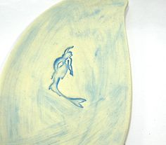 Ceramic Platter / Serving Tray  Mermaid Swimming in by IrihanaArts