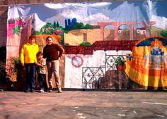 custom mural, Mexican landscape by Golondrina Fine art