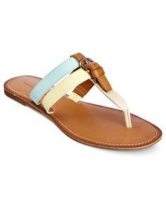 Tommy Hilfiger Shoes, Leona Flat Sandals - Tommy Hilfiger - Shoes - Macys