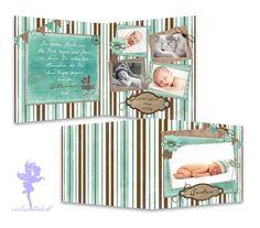 Baby- & Geburtskarten - Babykarte Geburtskarte Gundula - ein Designerstück von Feenstaub-Papeterie bei DaWanda