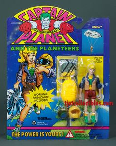 Captain Planet 1994 Series Linka Working by tjetcollectibles