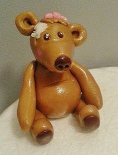 Teddy Bear topper Cake Toppers, Teddy Bear, Cakes, Toys, Animals, Animales, Animaux, Pastries, Torte