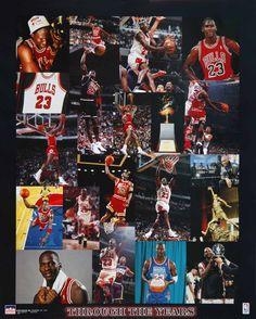 Michael Jordan Chicago Bulls Thru the Years 16x20 Starline Poster OOP