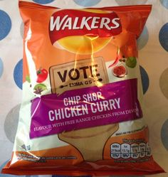 Foodstuff Finds: Chip Shop Chicken Curry ( [By Walkers Crisps, Packaging Snack, Snack Recipes, Snacks, Potato Chips, Yummy Treats, Goodies, Sweets, Stuffed Peppers