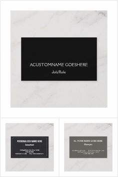 Simple, professional business cards with a dark colored background. Professional Business Cards, Cards Against Humanity, Collections, Dark, Color, Design, Colour, Design Comics, Colors