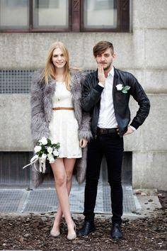 Architect Jordan Tait and model Martiza Veer in their wedding day finery.
