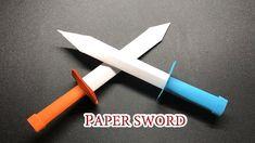 How To Make Origami, Origami Tutorial, Origami Easy, Origami Paper, Diy Paper, Diy Tutorial, Origami Ninja Sword, Origami Knife, Easy Oragami