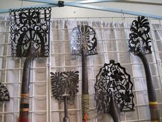 yard art ideas | Shovel heads turned into lace from Kelly Phipps Metalworks