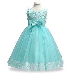 Kids Infant Girl Flower Petals Dress Bridesmaid Elegant Dress